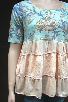 REVIVAL Boho Fall Shirt, Junk Gypsy Style, Country Farm Girl