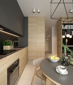 67+ Stunning Black White Wood Kitchen Decor Ideas #kitchendesign #kitchenremodel #kitchendecor