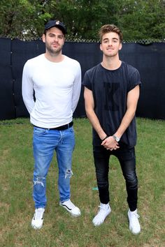 Alex Pall Photos Photos - Recording artists Alex Pall (L) and Andrew Taggart of The Chainsmokers are seen during day two at Austin City Limits Music Festival 2016 at Zilker Park on October 1, 2016 in Austin, Texas. - Samsung at Austin City Limits Music Festival 2016