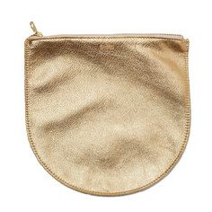 Leather Pouch Gold, $40, now featured on Fab.