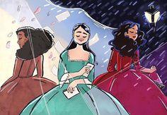 Angelica, Eliza, and Maria Theatre Nerds, Musical Theatre, Theater, Hamilton Broadway, Hamilton Musical, Hamilton Lin Manuel, Lin Manuel Miranda, John Laurens, Hamilton Fanart