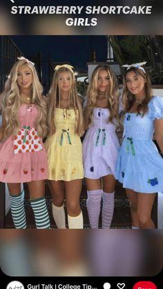 Halloween Costumes For Teens Girls, Cute Group Halloween Costumes, Trendy Halloween, Halloween Outfits, Costumes For 3 People, Cute Costumes For Couples, Princess Peach Halloween Costume, Family Costumes For 3, Teen Girl Costumes