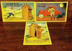 3 Humorous 1940s Vintage Postcards Unused by ScarlettsFancies, $12.00