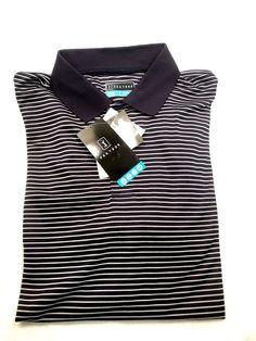 e456c79ac2c PGA Tour Men s Golf Polo Shirt Navy Striped Short Sleeve - ( size - XL )   fashion  clothing  shoes  accessories  mensclothing  shirts (ebay link)