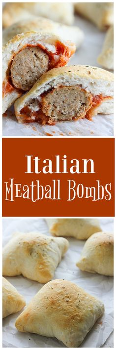 Just a few ingredients are needed to make these easy Italian Meatball Bombs. Quick and easy recipes are a must during the holidays! #ad