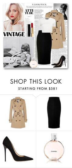 """""""Time Traveler"""" by auroraconstance ❤ liked on Polyvore featuring ASOS, Bardot, Burberry, Victoria Beckham, Jimmy Choo, Chanel, Tiffany & Co. and Proenza Schouler"""
