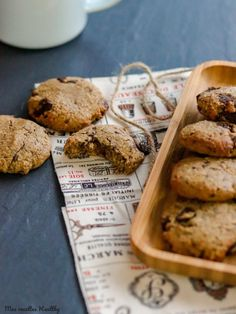 Cookies Et Biscuits, Sugar Cookies, Biscuit Sans Gluten, Food Inspiration, Coco, Banana Bread, Healthy Recipes, Healthy Food, Gluten Free