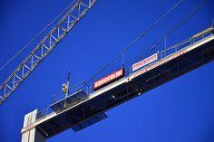 Broccolini Crane by Claude Charbonneau on Ottawa, Golden Gate Bridge, Crane, Construction, Building