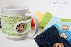 Free crochet pattern - coffee cozy