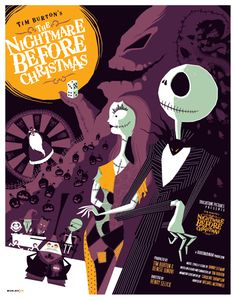 The Nightmare Before Christmas poster by Tom Whalen