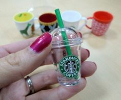 mini starbucks, I would never get by on this small amount of coffee but it's sooo cute!