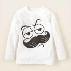 baby boy - mustache scribble graphic tee | Children's Clothing | Kids Clothes | The Children's Place