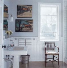 Merveilleux Fun Paintings For A Bathroom   And Love The Towels, Bucket And Chair Farm  House