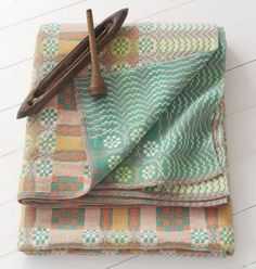 This is the exact design welsh blanket that lay on my bed as a young girl growing up in a traditional Welsh community in Ystradgynlais.