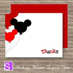 Mickey Mouse Thank You Cards Love These Card Ideas Pinterest