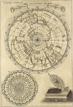 Horoscopium Geographicum from 'Ars Magna Lucis et Umbrae' by Father Athanasius Kircher, 1646.