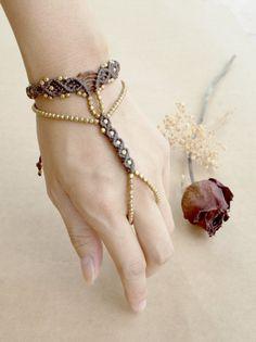 Macrame Slave Bracelet / Finger Bracelet / Ring Bracelet /