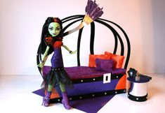 How to make a Casta Fierce Doll Bed Tutorial - Monster High