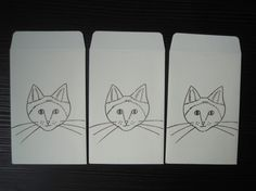 プリントゴッコで刷ったシャム猫|ハンドメイド、手作り、手仕事品の通販・販売・購入ならCreema。