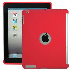 Mjukskal - Smart Cut (Röd) iPad 3/iPad 4-Skydd