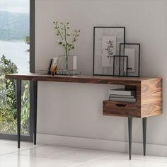 Skrivebord Stuka i Rosentræ Study Room Decor, Creative Furniture, Modern Console Tables, Interior, Desk Modern Design, Home Office Design, Modern Kitchen Design, Furniture Inspiration, Home Decor