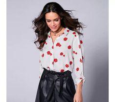 Košile s potiskem růží | vyprodej-slevy.cz #vyprodejslevy #vyprodejslecycz #vyprodejslevy_cz #halenka #kosile Blouse, Women, Fashion, Moda, Women's, Blouses, Fasion, Trendy Fashion, La Mode