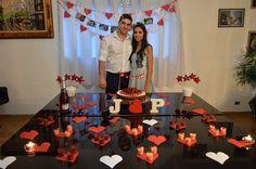 #decoraçãosimples #Diy #decoraçãonoivado #vermelho #branco #noivado