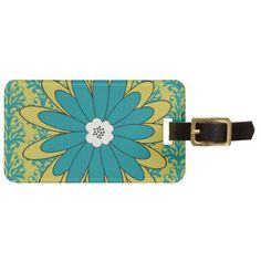 Boho Chic Blue and Green Luggage Tag - party favors!