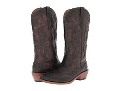 "Roper 12"" Eagle Overlay Snip Toe Boot Copper/Brown - Zappos.com Free Shipping BOTH Ways"