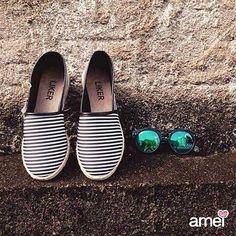 O verão vem listrado. #lojaamei #listras #alpargata #verao