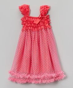 Love this Strawberry Dot Babydoll Dress - Toddler & Girls by Tutus by Tutu AND Lulu on #zulily! #zulilyfinds