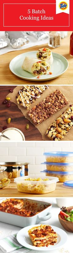 Our 5 easy batch cooking ideas will have you covered for breakfast, lunch, dinner, snacks and even dessert! Freeze now, eat later saves time and ensures you always have a tasty, healthy option at the ready.
