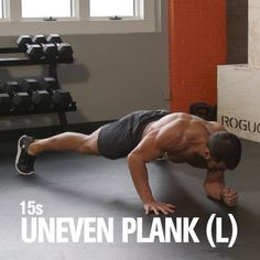JACK UP YOUR CORE AND METABOLISM WITH THIS PLANK JACK COMPLEX from MH fitness director BJ Gaddour (@bjgaddour)! Jacking your feet in and out provides a great dynamic stability challenge that makes your abs scream and also ramps up your heart and metabolic rate. Do each of the following 4 moves for 15 seconds each with no rest between them:  Plank on Hands Uneven Plank- L Uneven Plank- R Plank on Forearms  After doing all 4 moves, rest a minute. That's 1 round. Perform up to 5 total rounds…