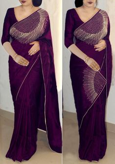 We are the manufacturer and exporter of indian ethnic wear. We have the huge variety and maintain designs at a time. The one stop shop for wholesale purchasing. Simple Saree Designs, Simple Sarees, Bollywood Designer Sarees, Bollywood Saree, Bollywood Fashion, Kerala Saree Blouse Designs, Saree Designs Party Wear, Indian Wedding Sari, Indian Bridal
