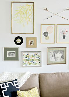 How to curate a gallery wall (How do you know what kind of art to use? Click through to find out!) #gallerywall
