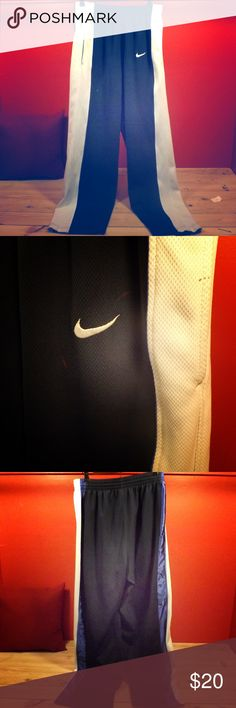Nike Sweatpants blue/white Great condition a few marks on them but otherwise like new! Nike Pants Sweatpants & Joggers