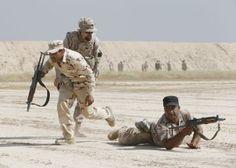 Militares españoles en la antesala de la batalla de Mosul