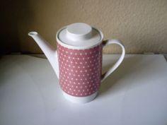 Melitta-Kaffeekanne-Hamburg-Rosa-dreiecke-70er-Jahre-0-9-l-Gebraucht-sehr-gut