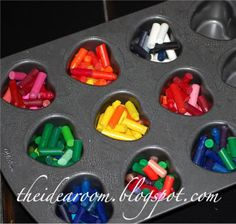 Heart crayons. Great Valentines day gift for children.