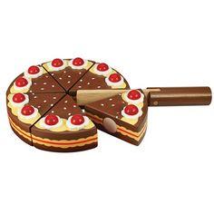 Torty czekoladowe firmy Bigjigs to super zabawki drewniane na podwieczorki z lalkami :) #zabawkidrewniane