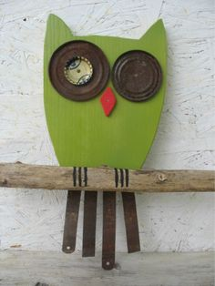 Hey, I found this really awesome Etsy listing at http://www.etsy.com/listing/152844050/owl-recycled-wood-art-whimsical-owl