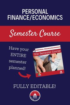 This fun and engaging personal finance course is fully editable and ready to use in your high school classroom! Make your life so much easier this year by clicking to buy this entire semester-long personal finance and economics course. #TpT #personalfinance #economics #NotAnotherHistoryTeacher