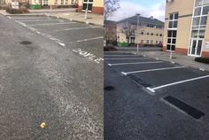 Recent Work - Building Maintenance - Relining Car Park Spaces