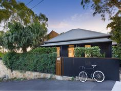 Architect Conrad Johnston and his wife Katrina have sold their Balmain home. Australian Architecture, Architecture Design, Decorating Blogs, House Painting, Black House, Garage Doors, Exterior, Outdoor Decor, Painted Houses