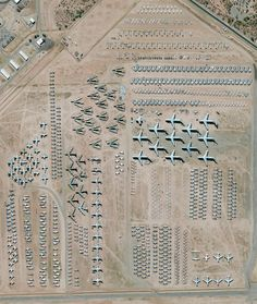 5/31/2016 Davis-Monthan Air Force Base Aircraft Boneyard Tucson, Arizona, USA 32.151087°, –110.826079°  The largest aircraft storage and preservation facility in the world is located at Davis-Monthan Air Force Base in Tucson, Arizona, USA. The boneyard—run by the 309th Airspace Maintenance and Regeneration Group—contains more than 4,400 retired American military and government aircraft.