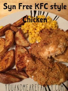 Syn Free KFC style Chicken ~ Slimming World - Slimming World Recipes Syn Free KFC Stil Huhn ~ Slimming World - Slimming World Rezepte Slimming World Tips, Slimming World Dinners, Slimming Eats, Slimming Recipes, Kfc Chicken Slimming World, Slimming World Airfryer Recipes, Fake Away Slimming World, Air Fryer Recipes Slimming World, Slimming World Syn Values