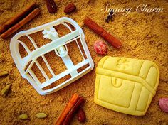 Pirate treasury chest cookie cutter by SugaryCharm on Etsy