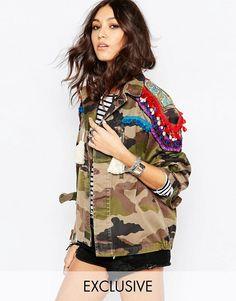 Reclaimed Vintage | Reclaimed Vintage Premium Military Jacket With Shoulder Customisation
