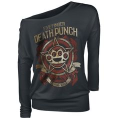 Five Finger Death Punch  Long-sleeved Shirt  »Badge Of Honor« | Buy now at EMP | More Band merch  Longsleeves  available online ✓ Unbeatable prices!