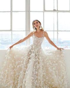 Modern Lace Wedding Dress,Spaghetti straps Backless Wedding Dress,Bridal - If ~ - Hochzeit Wedding Dress Styles, Dream Wedding Dresses, Boho Wedding Dress, Designer Wedding Dresses, Bridal Dresses, Wedding Gowns, Lace Wedding, Greek Wedding, Floral Wedding